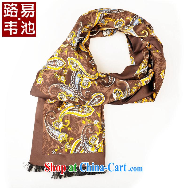 Louis Weston pool men's men's scarves men's Sauna silk scarves and silk scarf winter Korean scarf men's stamp scarf