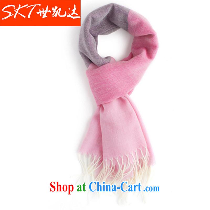 Kai up to 100 Per cent wool men's spring warm scarves men's thin Korean version of the new fleece WYD WYD 06 C Toner/light purple 180 * 65
