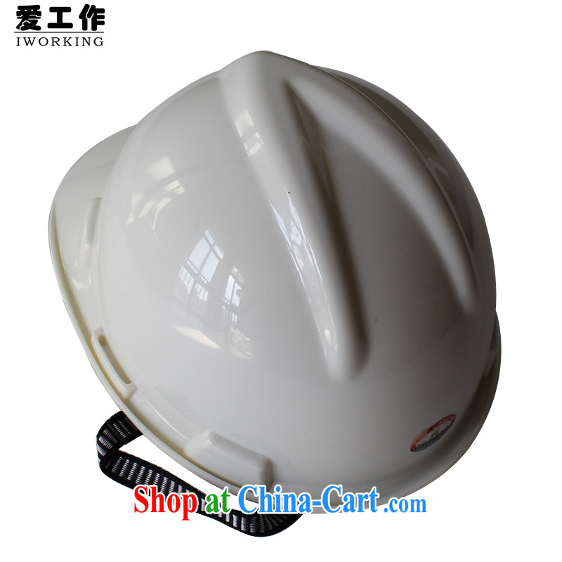 Love the PE high-strength safety cap Construction Site Safety Cap Works defense against cap quality through White