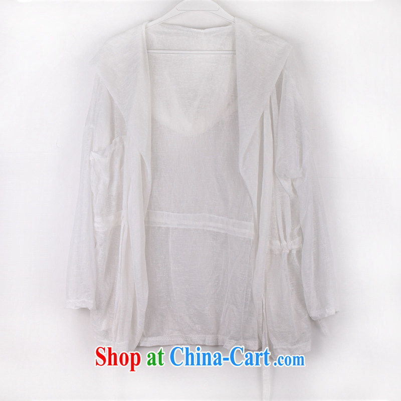 The Greek Cypriot-wei Ms. summer sunscreen clothing UV sunscreen clothing white are code