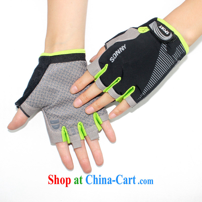 Elastic fabric breathable sweat-wicking anti-slip wear sports gloves Womens bike riding bicycles half mittens Wheel Slip Wrist weightlifting dumbbell training gloves men and 6 color 1 color