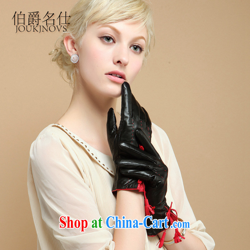 The count of Sze-fur, leather gloves warm winter gloves full touch screen interface seamlessly GS 5011 black L