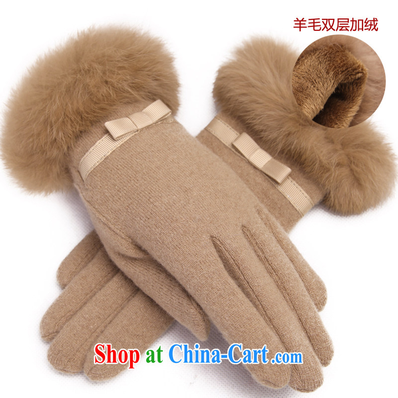 RGLT in spring 2015, Ms. new wool stylish warm rabbit hair cuffs are the elegant gloves dumping the dumping of - and color (double the lint-free)