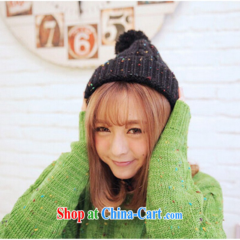 happy times Winter 2014 with Korean leisure hair ball hat knitting couples hat twist retro men and women-red, happy times, shopping on the Internet