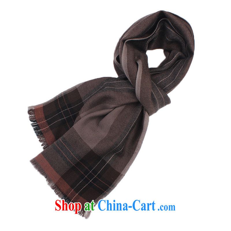 Shanghai Story pure wool men's scarves men's winter version won warm lined tartan Classic Business, scarf streaks - coffee-colored, wide thick), Shanghai Story (STORY &Shanghai), online shopping