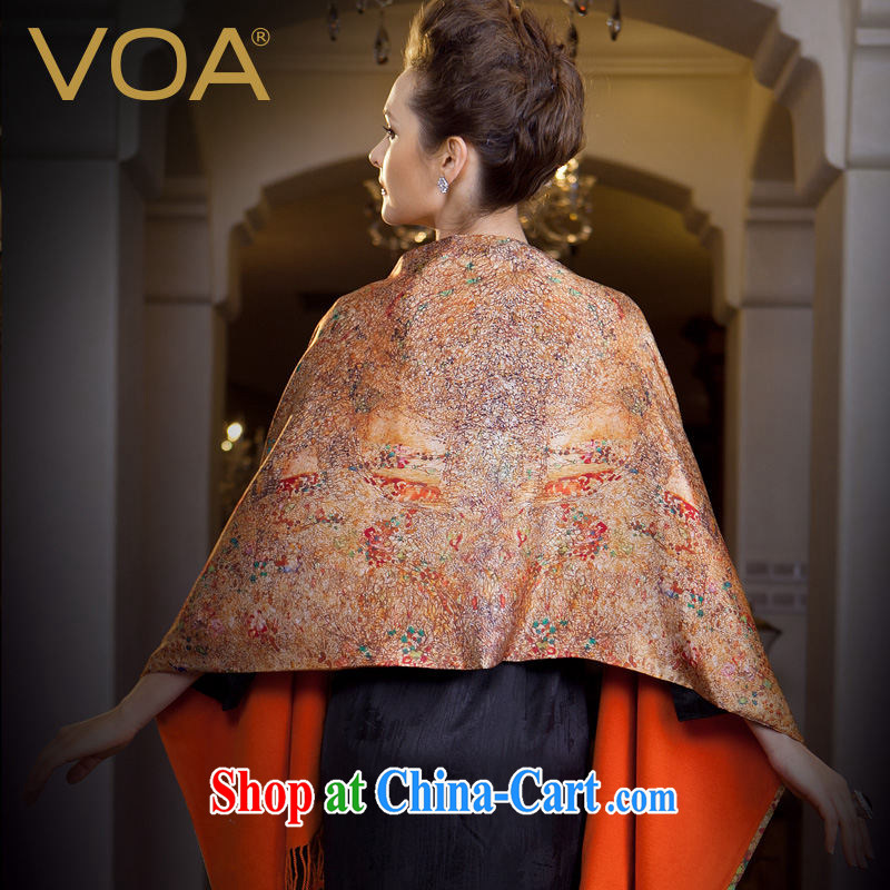 VOA upscale classic silk scarf double-sided brushed silk scarves thick sauna silk scarf P 902 golden thread Song (JLG), VOA, shopping on the Internet
