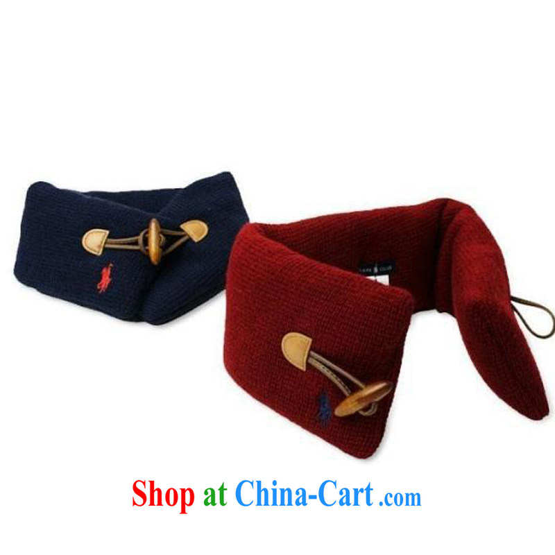 Korean edition solid-colored men, women and children wooden tie scarf baby knitted scarf maroon