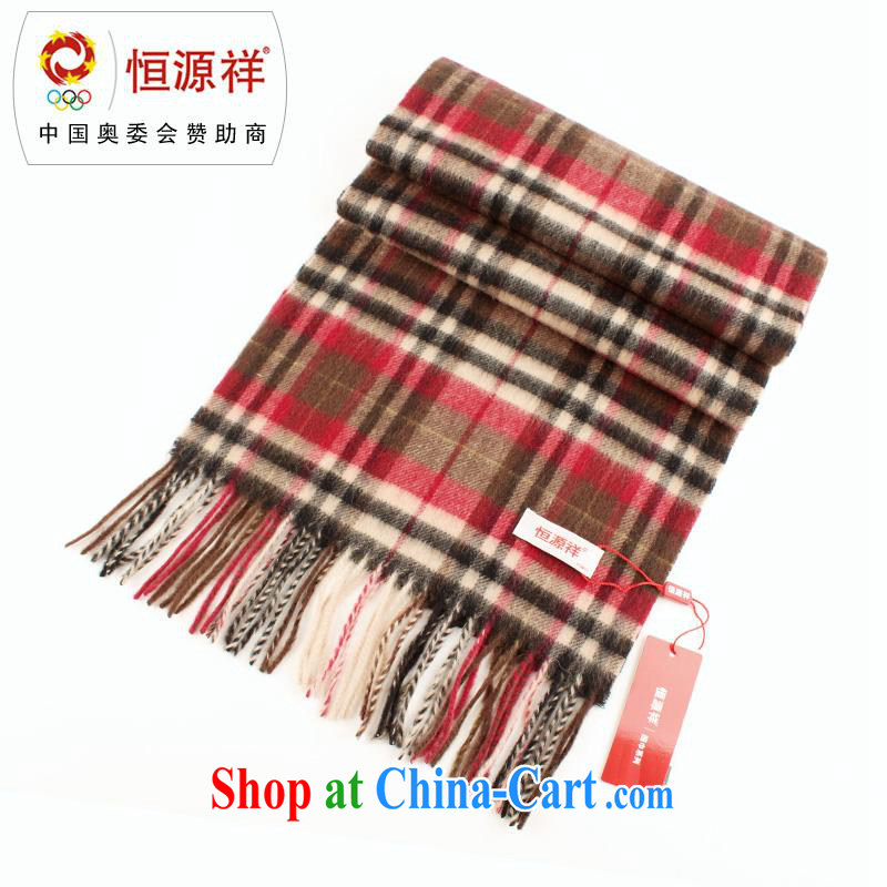 Elections at the end of the season clearance -- Hang Seng Yuen Cheung-lamb wool scarves couples men and women in Europe and America scarf warm tartan wool scarf LWS 001 - 915 - 3 coffee the red