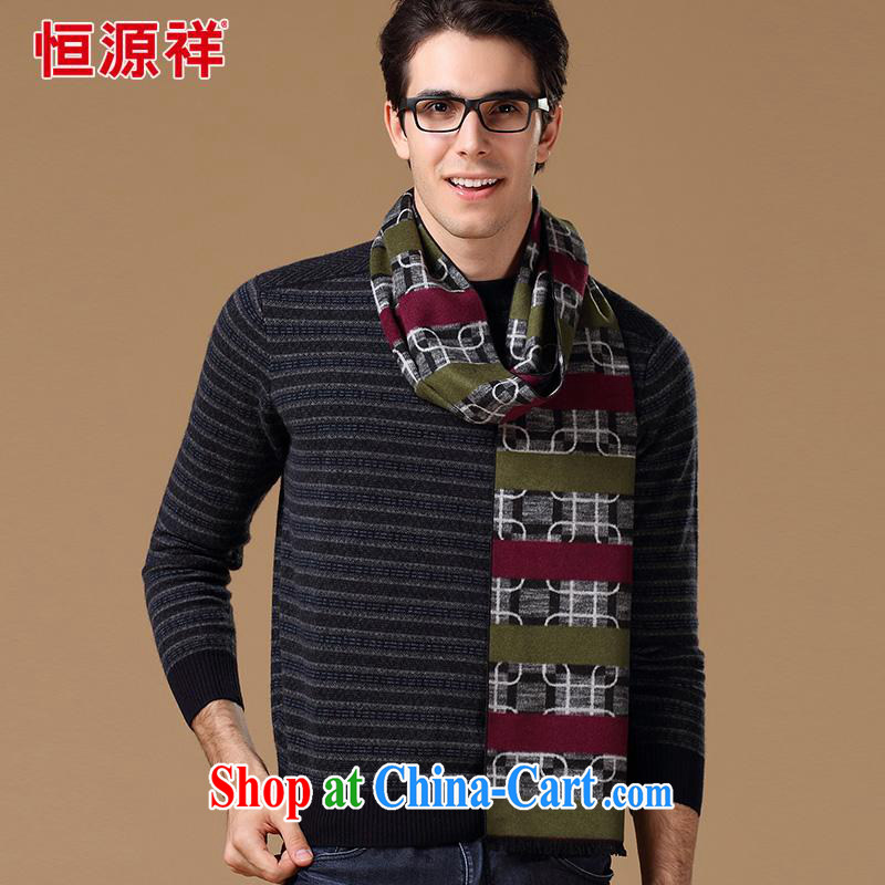 Elections at the end of the season clearance -- Hang Seng Yuen Cheung-genuine men scarves new elegant stripe pattern men's stylish casual scarf 100% silk dos santos 03 color