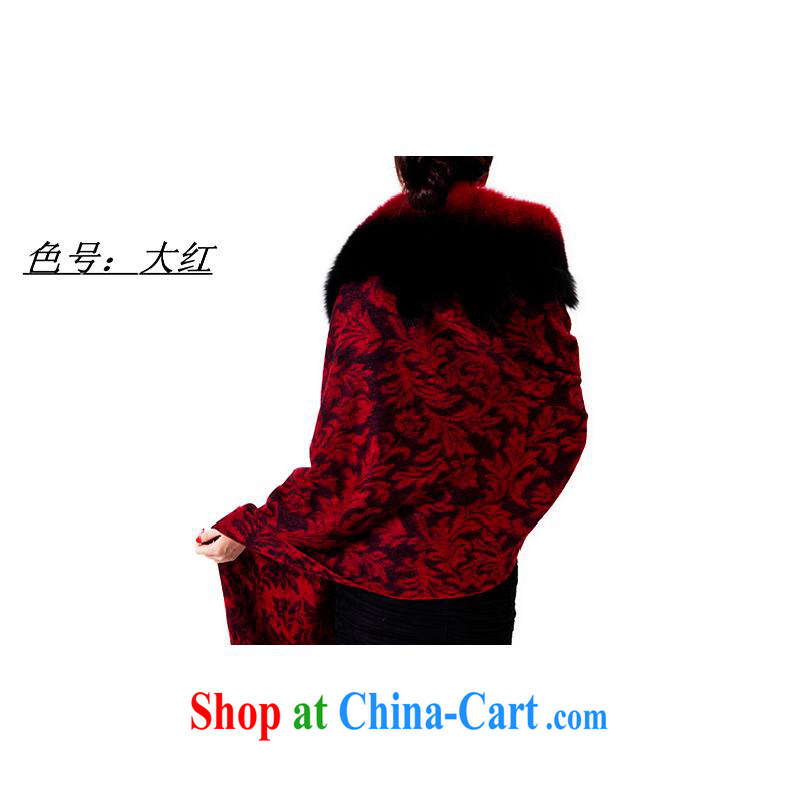 The year-end being thrown off as soon as possible the Hang Seng Yuen Cheung-genuine pashmina shawl fur shawl large Fox hair shawl thick scarves the autumn and winter female gift box red other