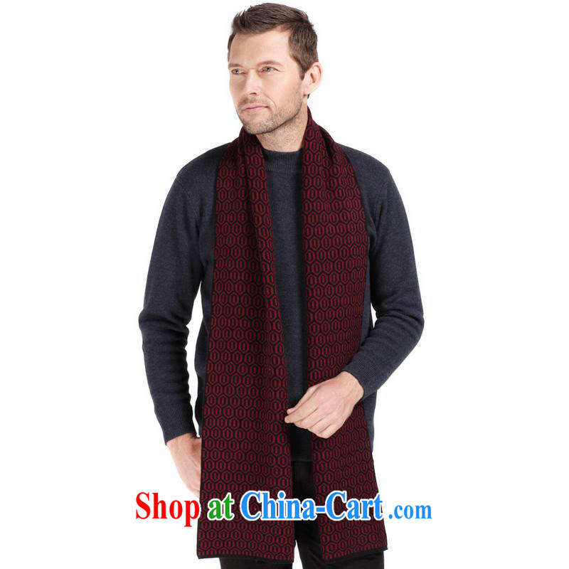 The year-end being thrown off as soon as possible the Hang Seng Yuen Cheung-genuine scarf winter classic men's upscale warm cashmere goats wool business scarves men's gift box CWS 011 - 1086 - 2 wine red other