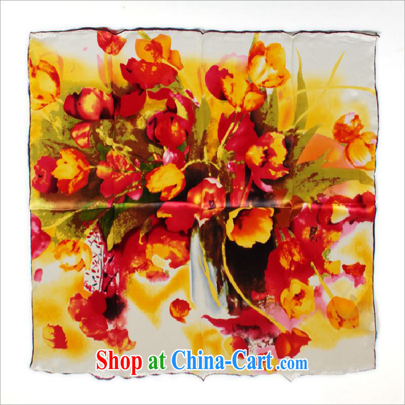 The annual health promotion 2014 Hang Seng Yuen Cheung-New silk scarf colorful silk scarf and classy 100 sauna silk long silk scarf 100 change scarf with gift ZS 801009068 _other
