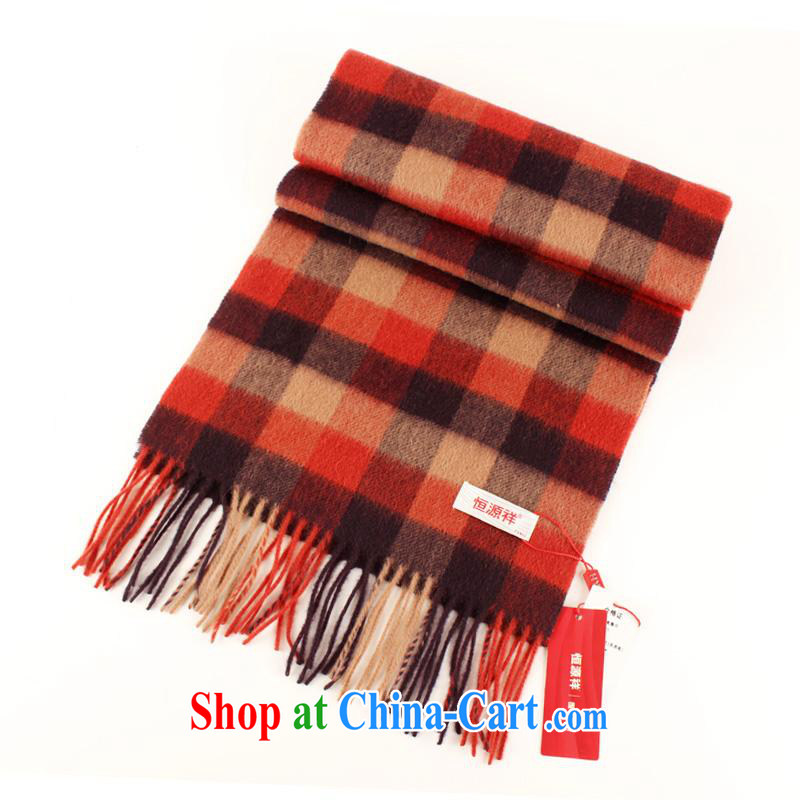The annual maximum to 2014 as soon as possible new men scarves counters and Hang Seng Yuen Cheung-wool lambs wool scarf unisex winter with cassette LWS 001 - 912 red and the other