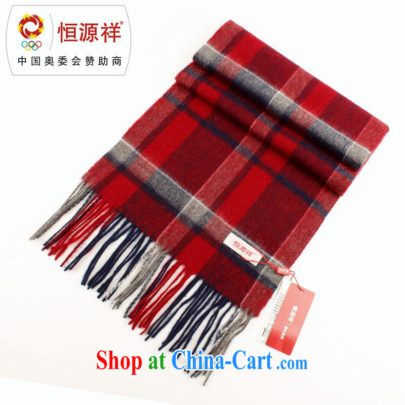 The annual health promotion New Hang Seng Yuen Cheung-wool scarf lamb in lint-free cloth older Classic Business large scarf warm scarves with cassette LWS 002 - 931 black and red, other
