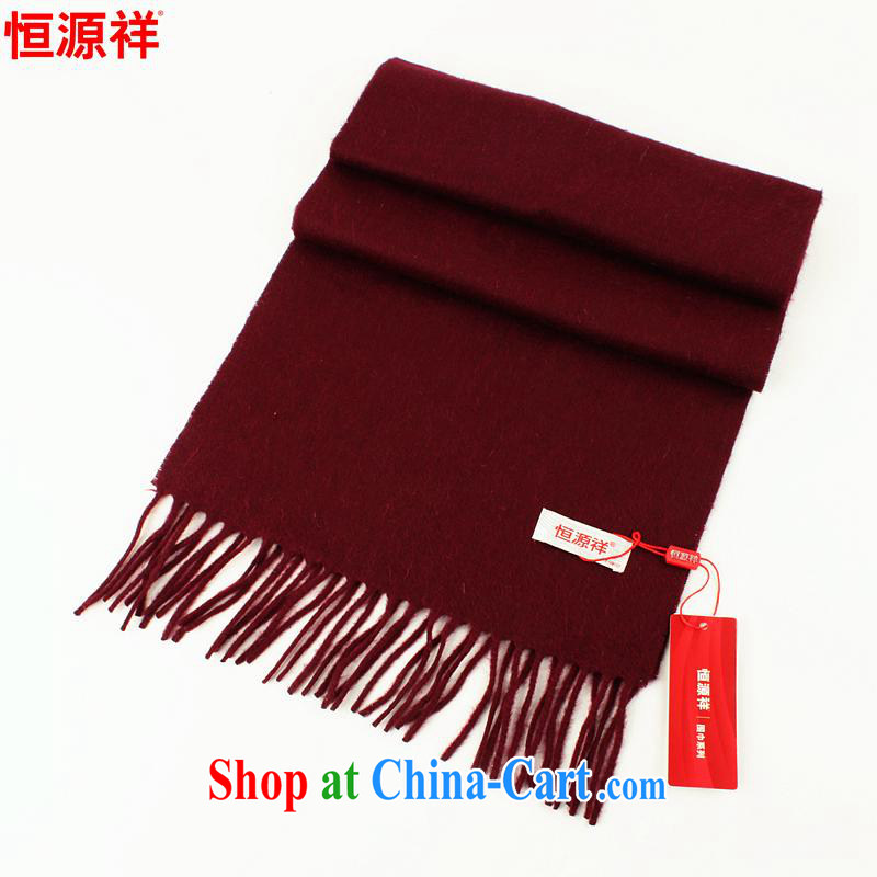 The anniversary as soon as possible to new genuine Hang Seng Yuen Cheung-red woolen scarf pure wool scarf autumn and winter long thick girls scarf with cassette WS 60 - 150 - 10 wine red dark red other