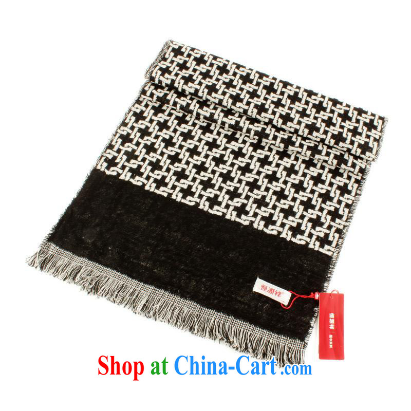 The annual health promotion and Hang Seng Yuen Cheung-wool large shawls unisex couples, scarf England College wind scarf New with gift box 90 WS J - 250 - 1 black-and-white other