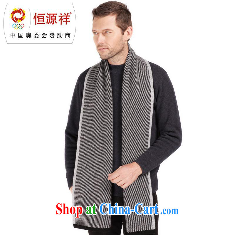The annual health promotion counters and Hang Seng Yuen Cheung-Cashmere wool mix scarf thick solid color business scarves men's scarf with cassette CWS 011 - 1801 - 3 and color other