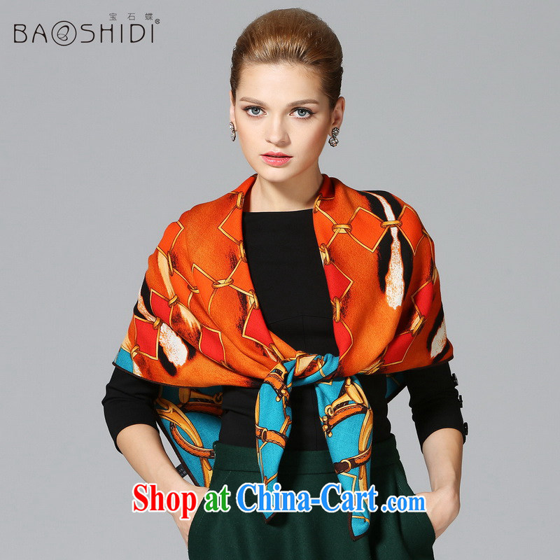 Gemstone butterfly Ms. BAOSHIDI pure wool scarf warm winter shawl new classy and towels/magnificent armed 1 color