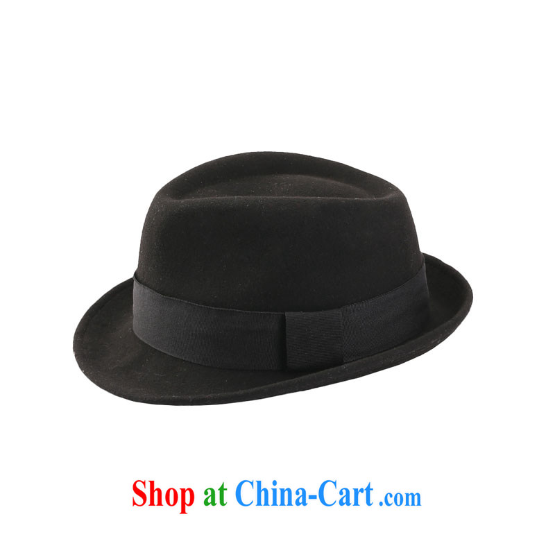 16 N counters are synchronized male British wind plain wool hats hat 1.204093 billion black M (56 - 58 cm)