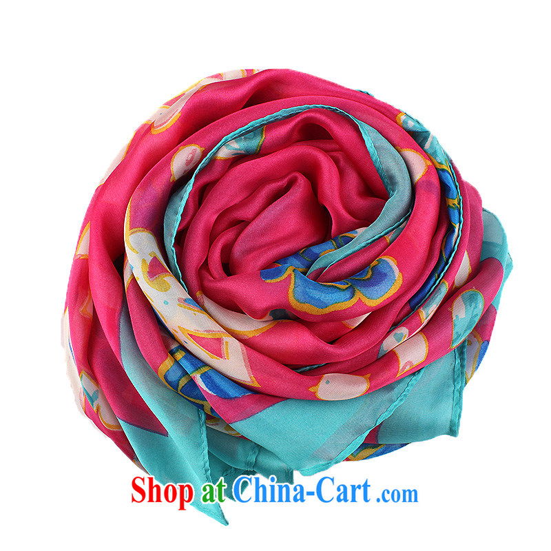 The sub-hong kong new silk scarf-shawl silk scarf, stunning long 100 muslin square ground like the red