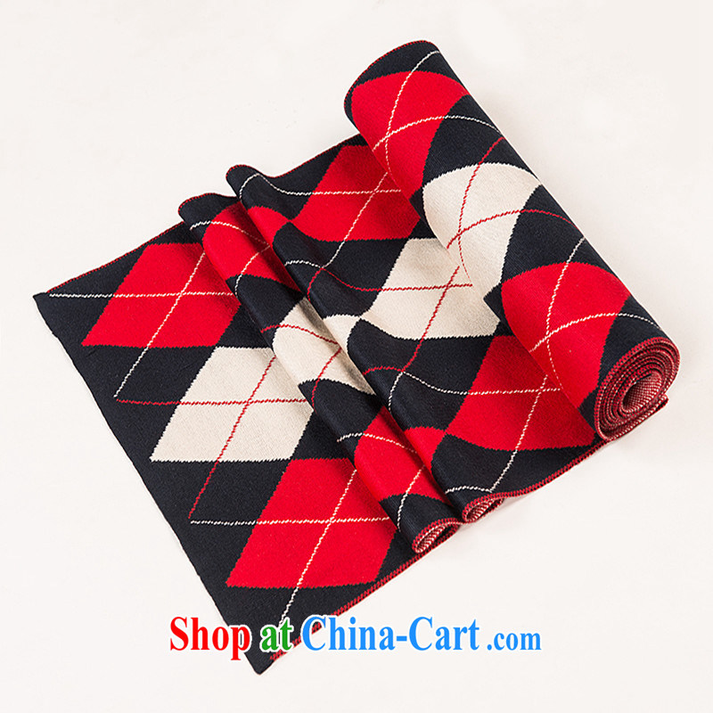 c2 flows toward the 2014 autumn and winter version won trend men's grid style scarf with gift box red tartan