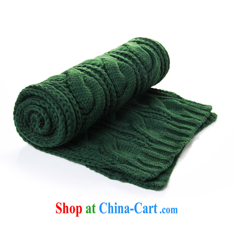 Where the spring 2015 new simple solid color 8-Color Options twist warm winter long scarves 100 ground knitted scarf green