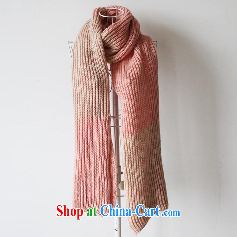 A leaf * knitting scarves 2014 genuine Korean Korean autumn Ms. winter scarf shawl two ultra-long pink