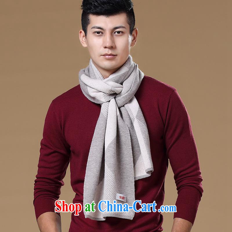 Elections at the end of the season clearance -- Hang Seng Yuen Cheung-at the end of the season clearance 2014 New Men's scarves men's pure wool high pop-up thick scarf white