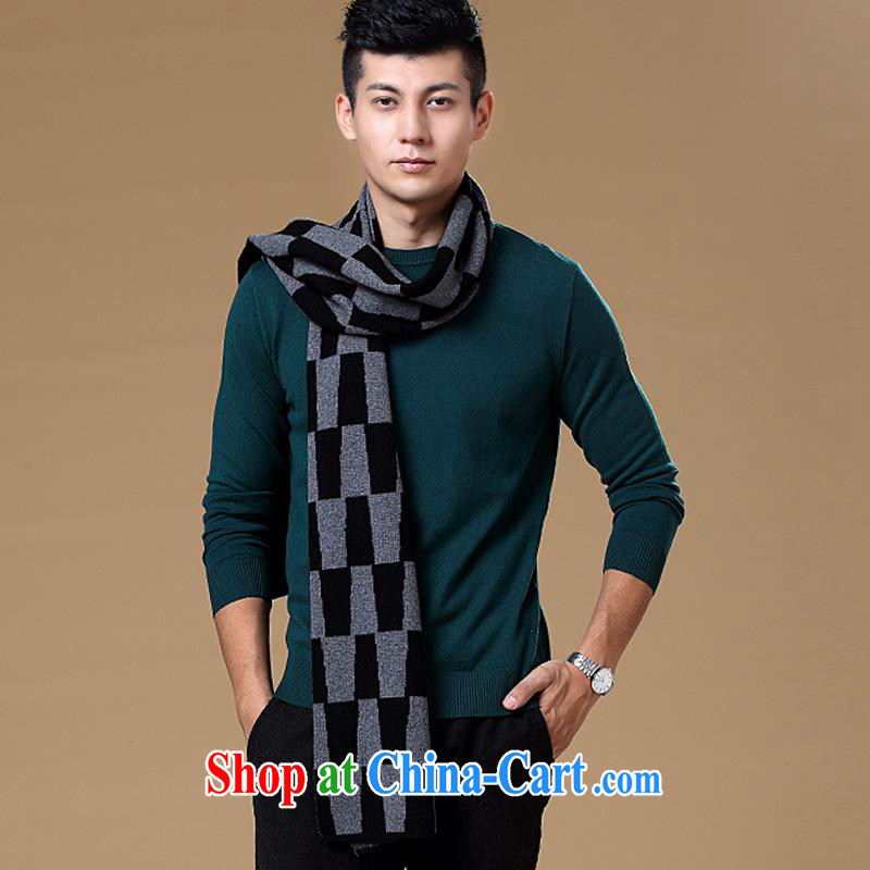 At year-end elections being thrown off as soon as possible the Hang Seng Yuen Cheung-genuine counters 2014 New Men's pure wool high-pop-up thick scarf business casual male scarf Black Gray other