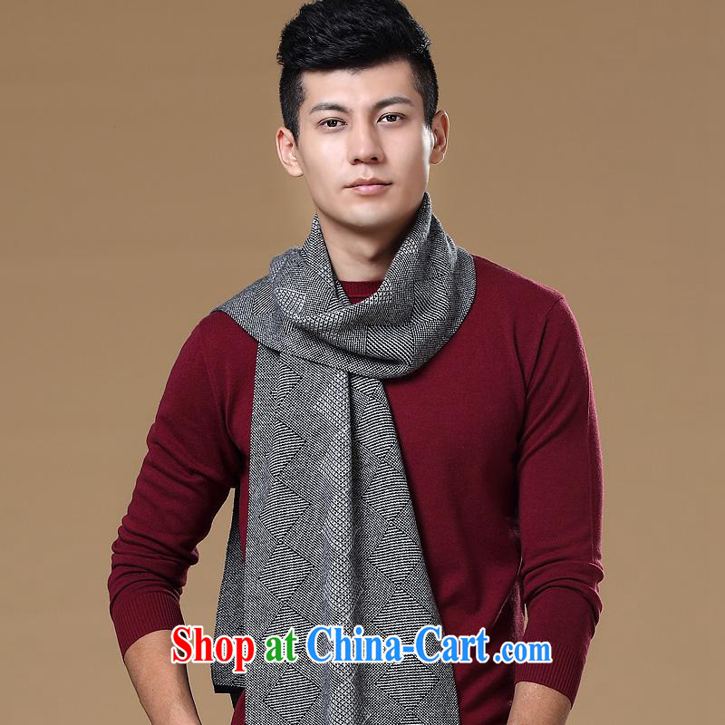 The year-end being thrown off as soon as possible the constant source-cheung and counters are 2014 New Men's pure wool plaid jacquard scarf dark gray other