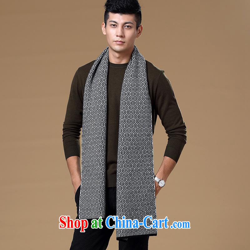 The year-end shake the Health Bethlehem source Cheung genuine counters 2014 New Men's warm scarves men's pure wool thick jacquard scarf, gray other
