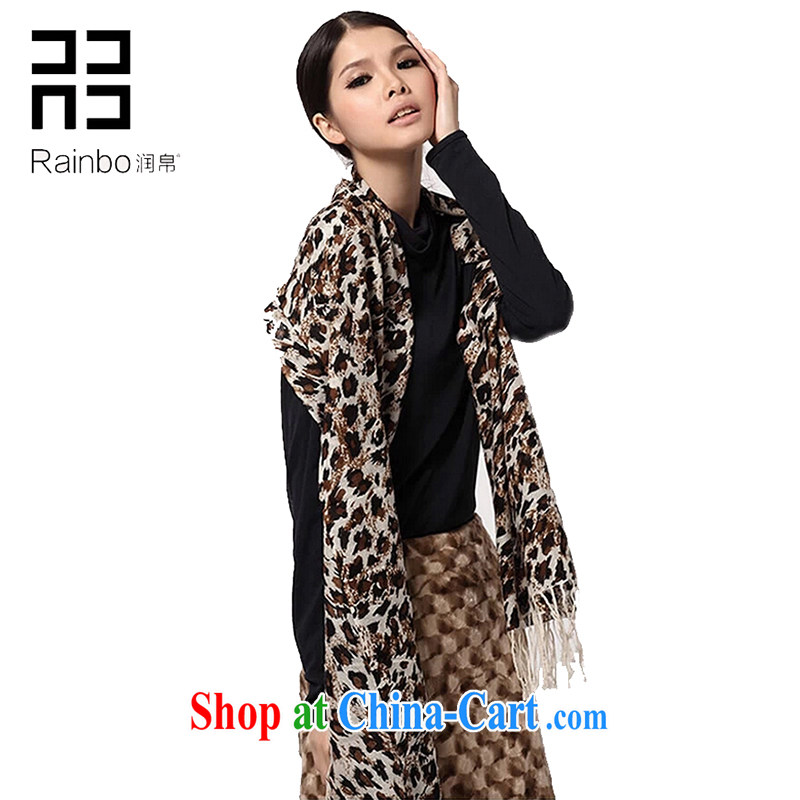 Yun-baik hot selling 2014 Leopard scarf autumn and winter Korean Leopard is pure wool scarf shawl, Ms. Korean ultra-long support the payment
