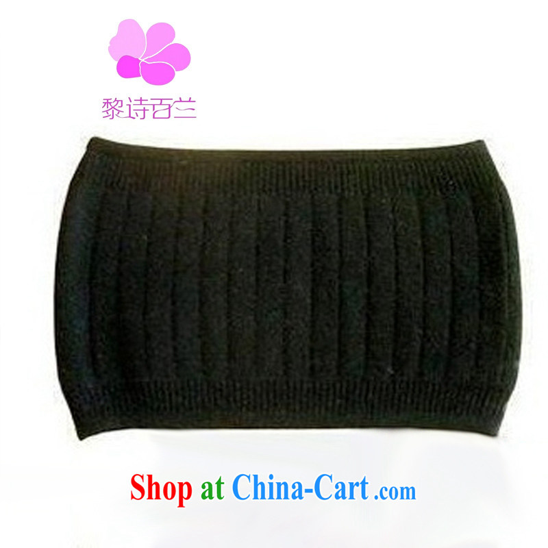 Mr Lai poetry 100, 2014 new care waist thick wool fleece back belts warm black