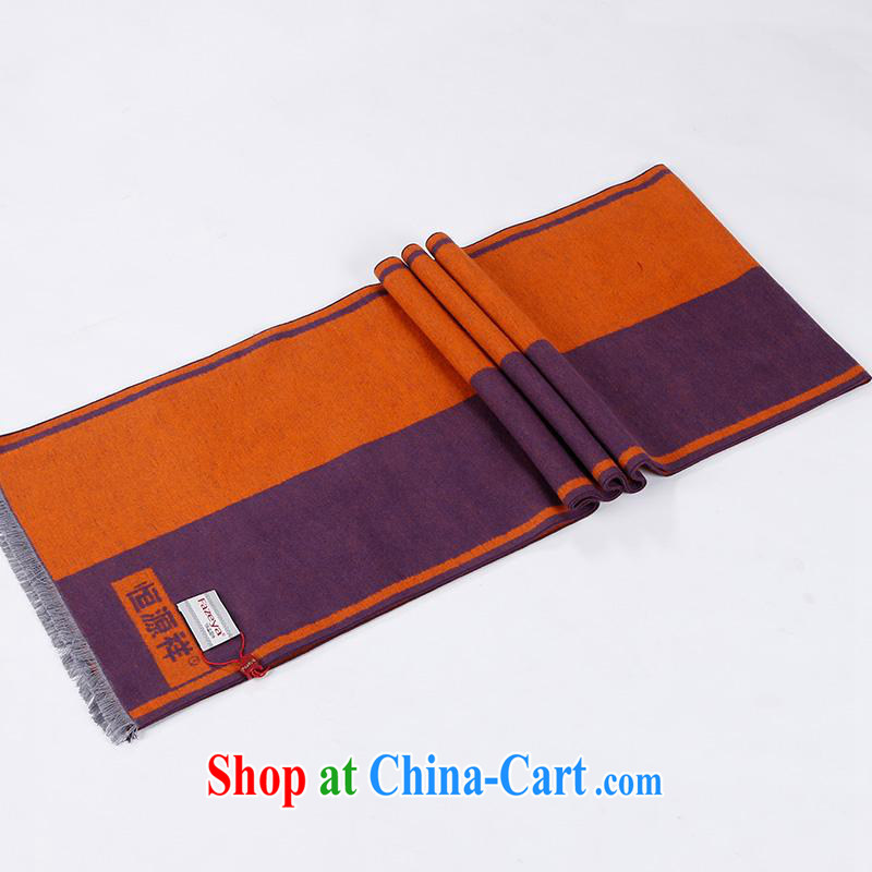 The anniversary as soon as possible to Hang Seng Yuen Cheung-2014 new unisex scarf plain dos Santos won silk scarf version deep orange other