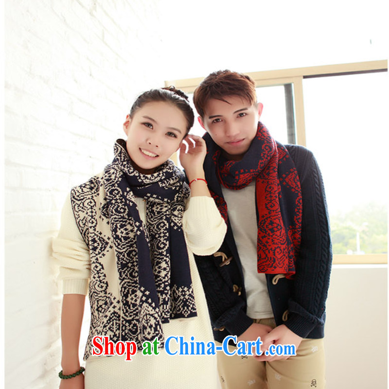 woo-woo (2014 autumn and winter, Korean scarf men's scarves couples men and women support the payment of 20 blue