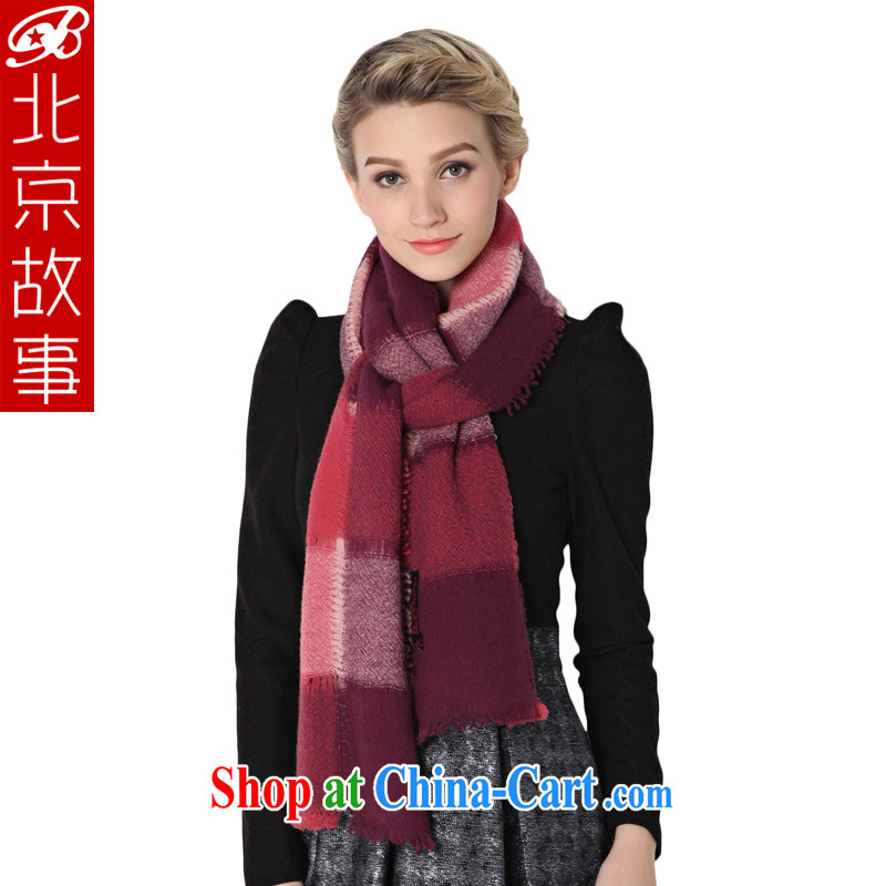 Beijing story autumn and winter, wool warm scarf scarf extra large air-conditioned shawl scarf two red
