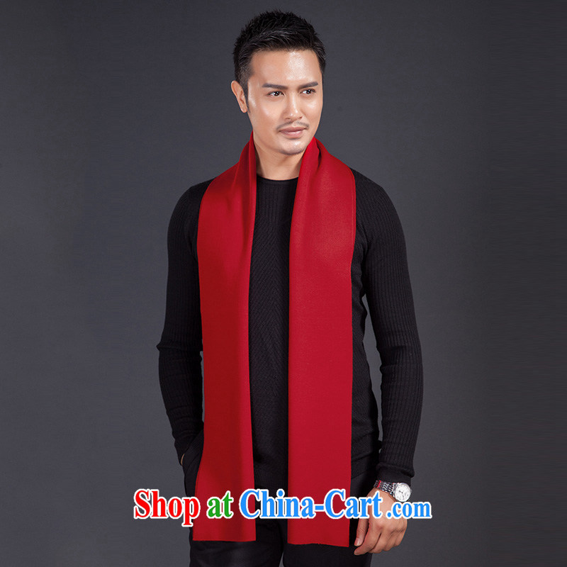 The veil take this yoga men's scarves winter Cashmere wool 2014 new large red this life, solid color scarf girl red