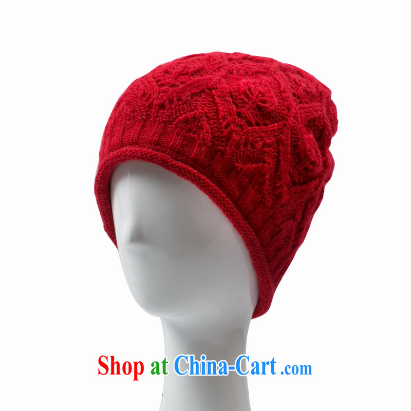 Korean language empty knitting cap spring warm winter the lint-free cloth twist knitting header cap, Red Hat adjustable