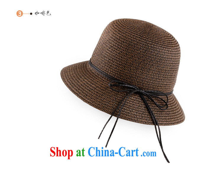The package mail spring cool in the summer cap straw hat beach cap dome hats straw hats women, Ms. Sun Hat light brown are code (suitable for 55 - 57 CM head), pictures, price, brand platters! Elections are good character, the national distribution, so why buy now enjoy more preferential! Health