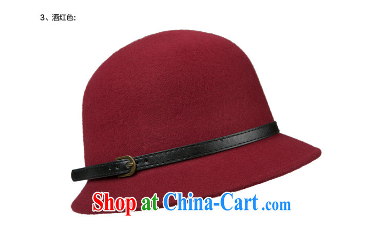 Korean wool hats so spring and summer the dome small hats, felt hats small along basin cap hat fall wine red adjustable (54 cm - 57 cm) pictures, price, brand platters! Elections are good character, the national distribution, so why buy now enjoy more preferential! Health