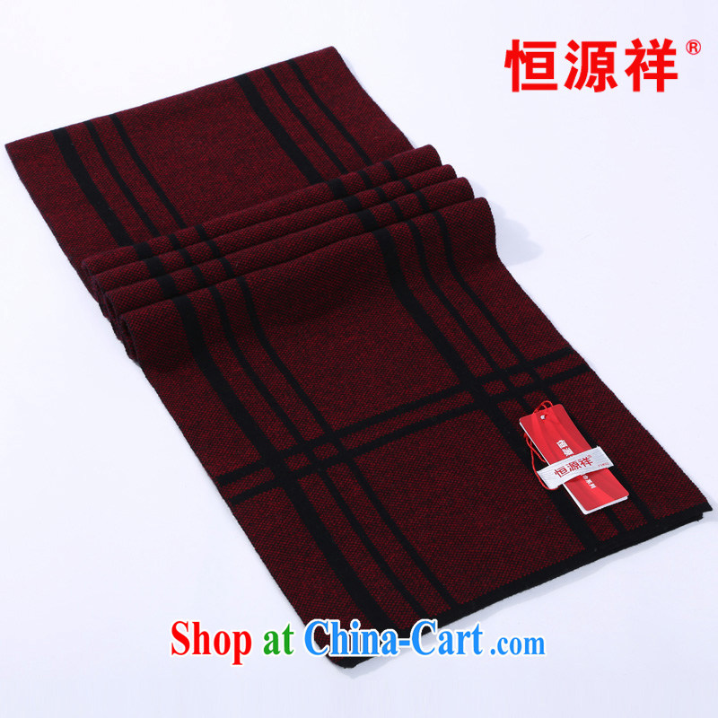 HANG SENG Yuen Cheung-scarf unisex pure wool long scarf stylish Grid Width scarf warm winter scarf CWS CWS 011 011 - 2805 - 3 180 _ 30 CM