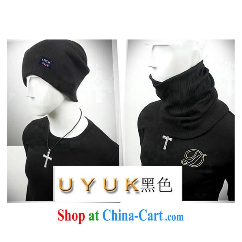 2014 UYUK new Korean winter latest popular scarf-two handkerchief 6223 - 163 black are code