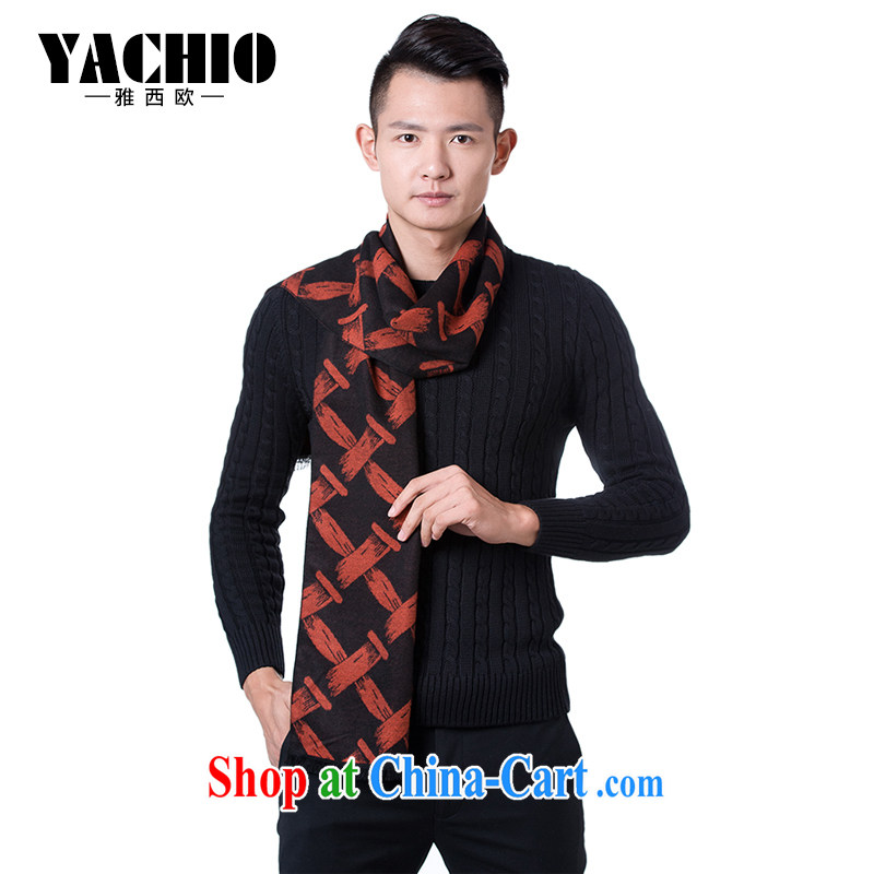 Jacob YACHIO western europe 2014 autumn and winter new counters men's scarves exclusive scarf gift gift bag and Black and Red Vines