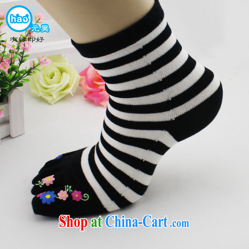Won-ho high streaks 5 fingers socks 5 fingers socks, Japan, and South Korea trend winter thick, factory direct special package mail black