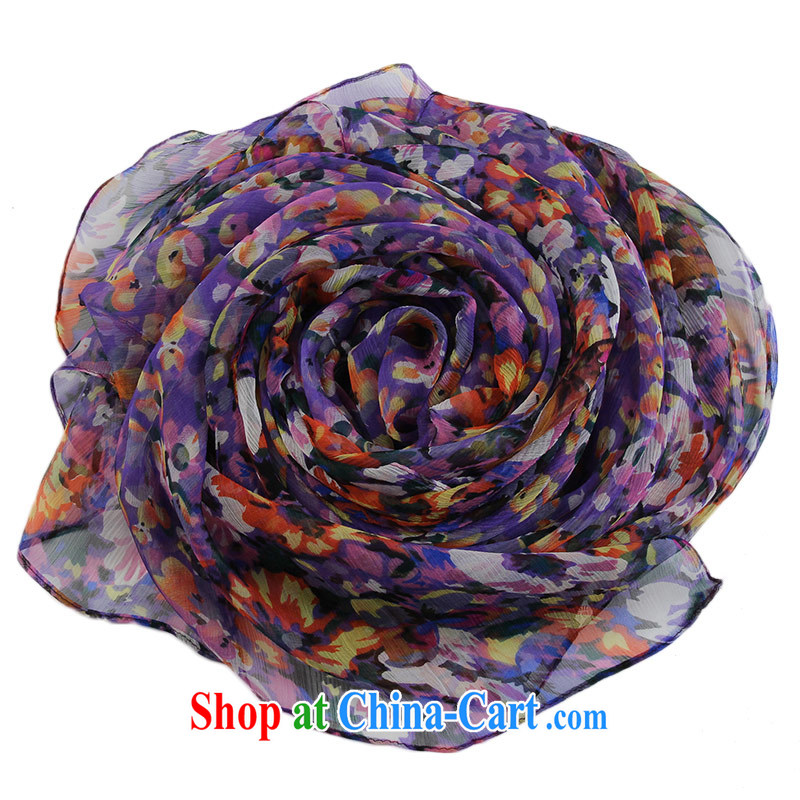 The sub-image Hong Kong Silk silk scarf and leopard suit sauna silk scarf 100 ground fall and winter shawl, 15 spend