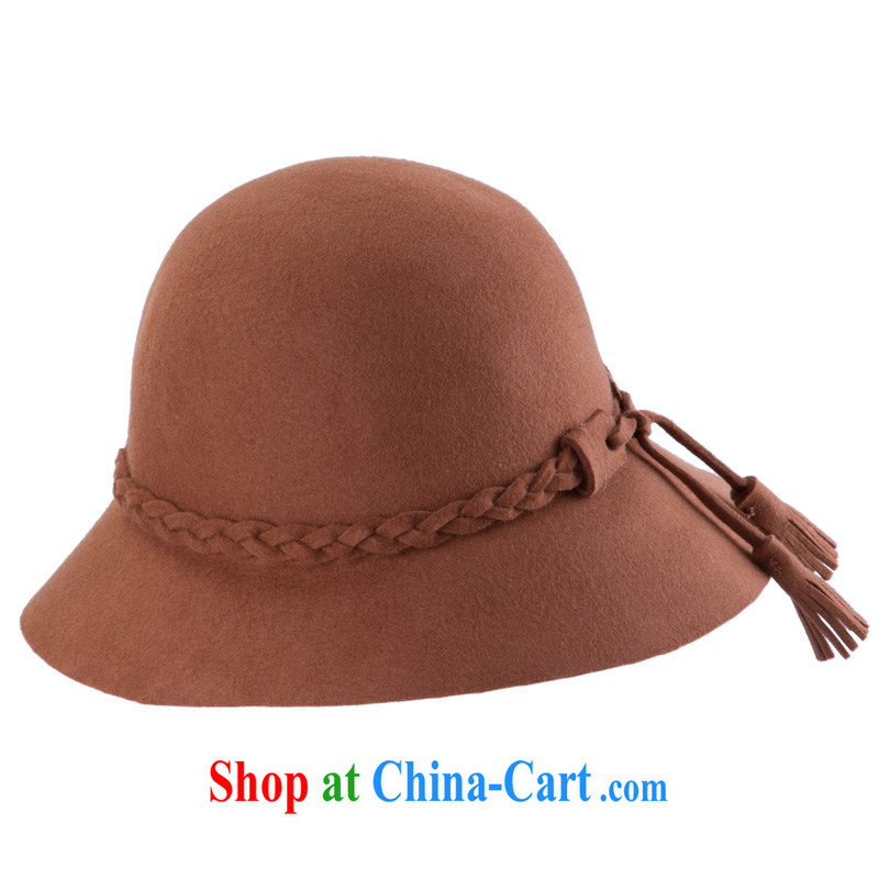 Korean version of the new Pure wool hats? Spring Summer and Autumn flow, the Dome of the basin cap, felt hat rust and are code 53 - 57 CM New Products Limited Time Offer