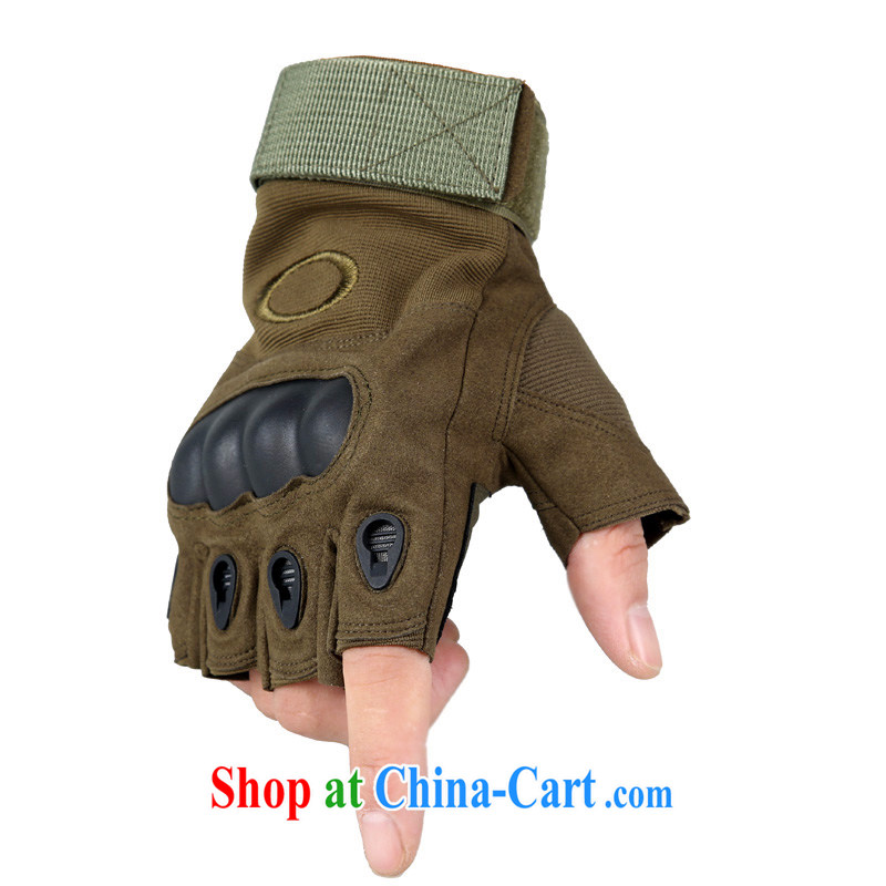 Black Hawk O Note New flower shell gloves Fire Phoenix outdoor climbing half the US Army special forces troops movement gloves tactical fitness biking cycling gloves army green XL