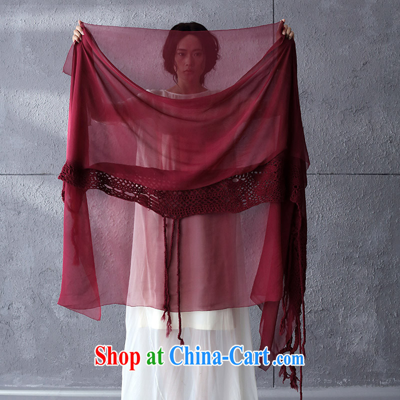 Life in the lower left-hand 2014 New Limited Edition manually hook take sauna silk scarf silk scarves 9.5114 billion wine red are code (31 price recovery 1299