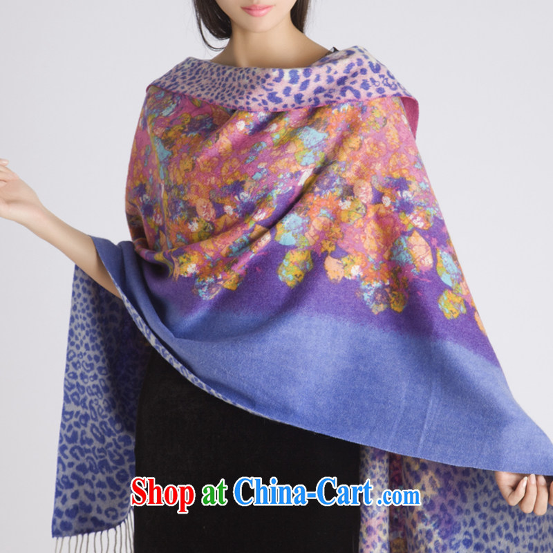Ryan, spring and summer warm 100% wool double jacquard thick girls scarf shawl two ultra-long 1000 autumn dream - Purple