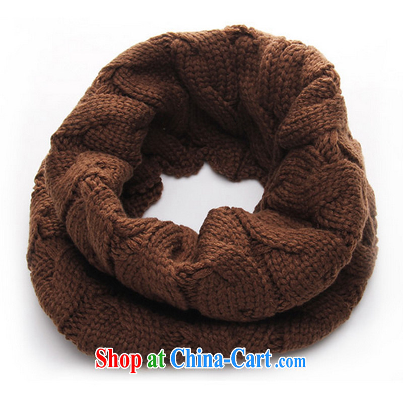The sponsors Minglan 2014 autumn and winter, new Korean couples, also of men and women knitted scarf 100 ground twist scarf simple D 636 brown